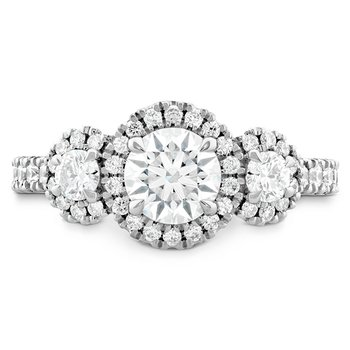 1.1 ctw. Integrity HOF Three Stone Engagement Ring