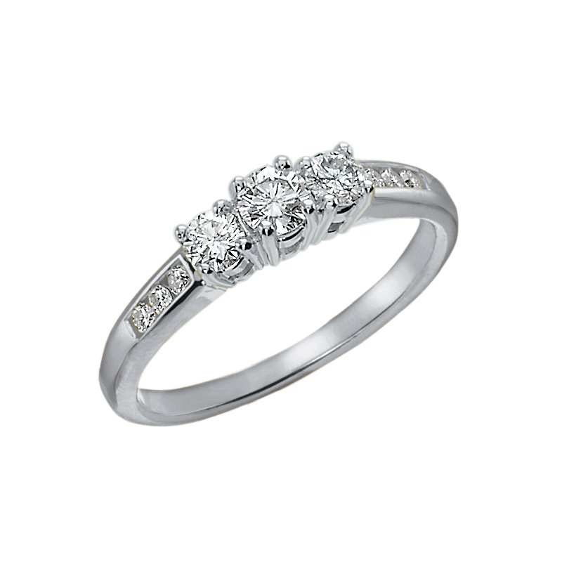 D of D Signature Diamond Ladies Three Stone Ring