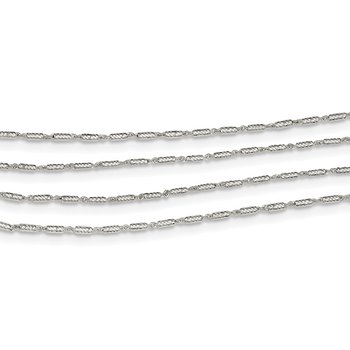 Sterling Silver 4 Strand Fancy Necklace