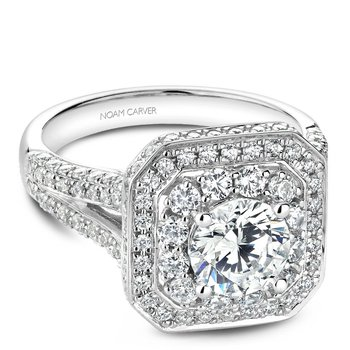 Noam Carver Regal Engagement Ring B158-01A