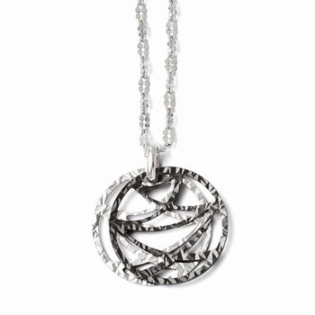 Leslies Sterling Silver Ruthenium-plated Necklace w/ 2in ext
