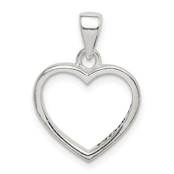 Sterling Silver Enamel LOVE YOU MOM Heart Pendant