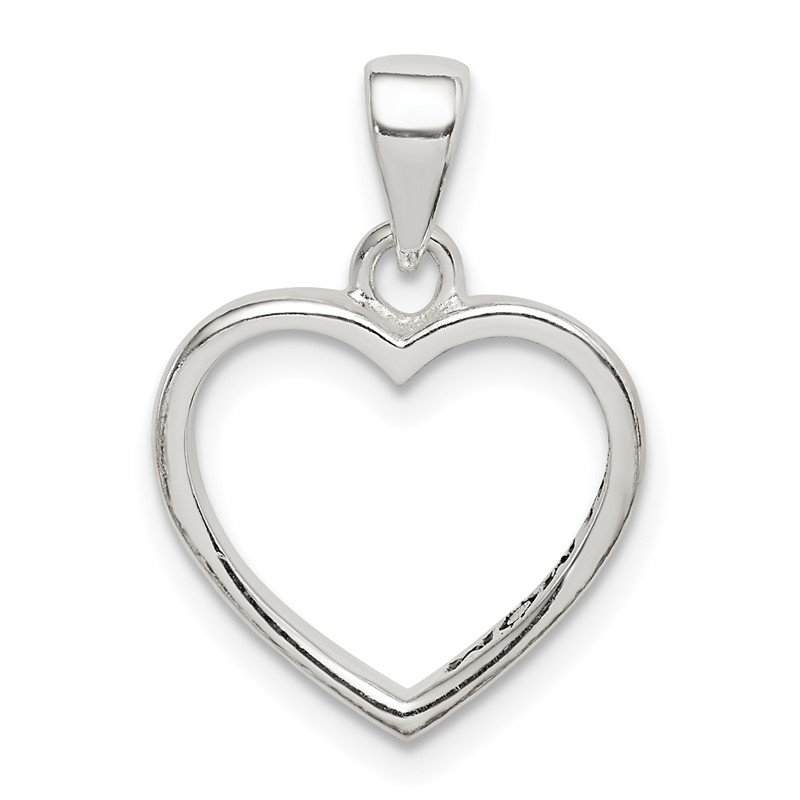 Quality Gold Sterling Silver Enamel LOVE YOU MOM Heart Pendant