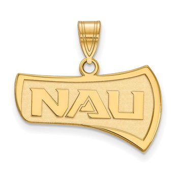 Gold-Plated Sterling Silver Northern Arizona University NCAA Pendant