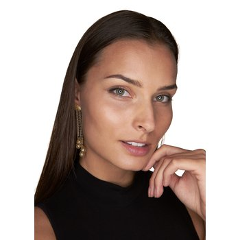 Cascading Tear Drop Earrings
