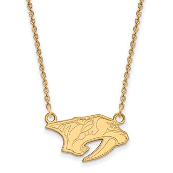 Gold Nashville Predators NHL Necklace