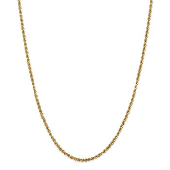Leslie's 14K 2.5mm Solid Rope Chain
