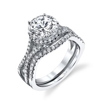 14K W SET RING 101RD 0.58CT