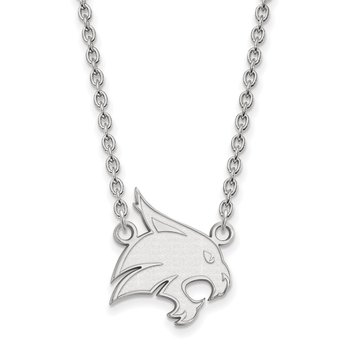 Sterling Silver Texas State University NCAA Necklace