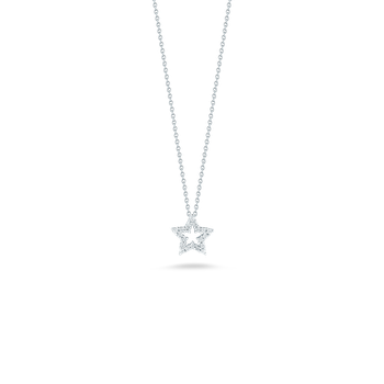 18KT GOLD STAR PENDANT WITH DIAMONDS