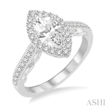 marquise shape diamond engagement ring