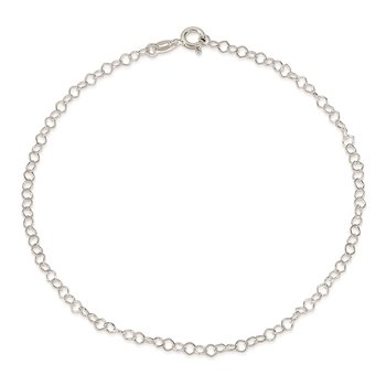 Sterling Silver 0.85mm Fancy Anklet
