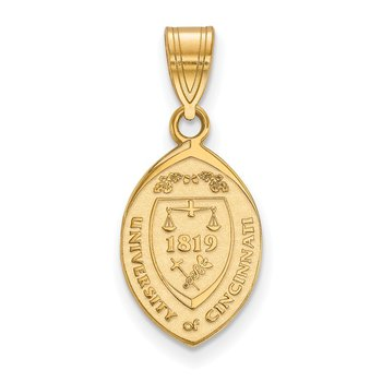 Gold-Plated Sterling Silver University of Cincinnati NCAA Pendant