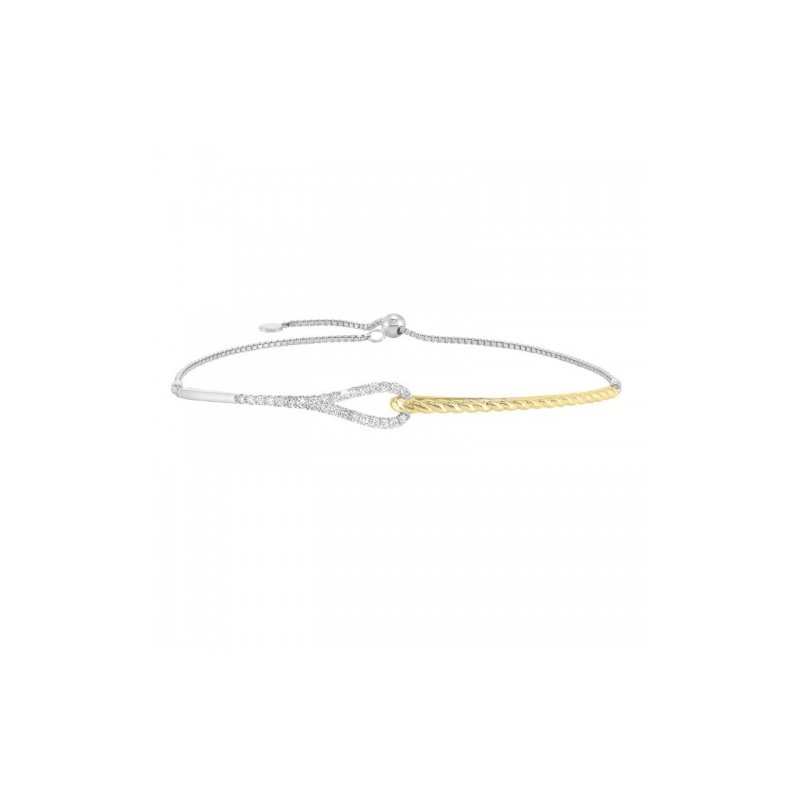 Gems One Petite Diamond Bracelet in 14K Two-Tone Gold  (1/4 ct. tw.)