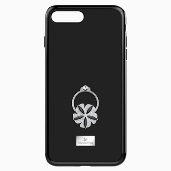 Mazy ring Smartphone Case with integrated Bumper, iPhone® 8 Plus, Black
