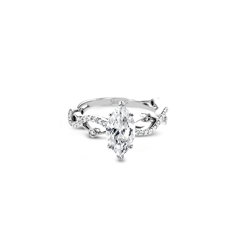 LR2207-MQ ENGAGEMENT RING