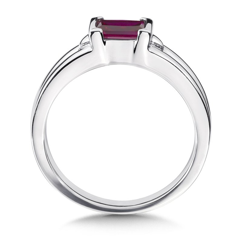 Colore SG Sterling Silver and Created Ruby Ring