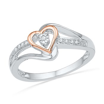Pink Heart Promise Ring Diamond Ring
