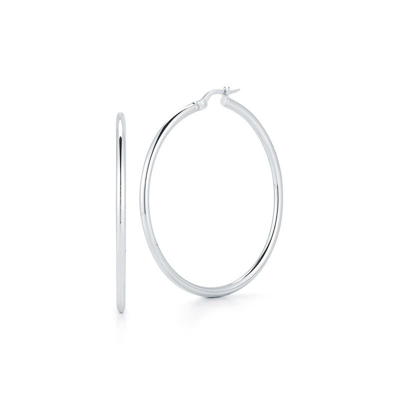 Roberto Coin  #24991 Of 18Kt White Large Hoop Earring