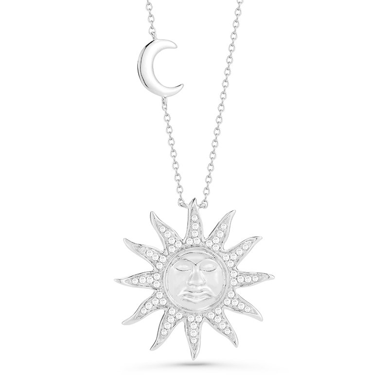 "Shula NY Artsy 14K Sun Pendant with 0.34C Diamonds, 18"" Chain"