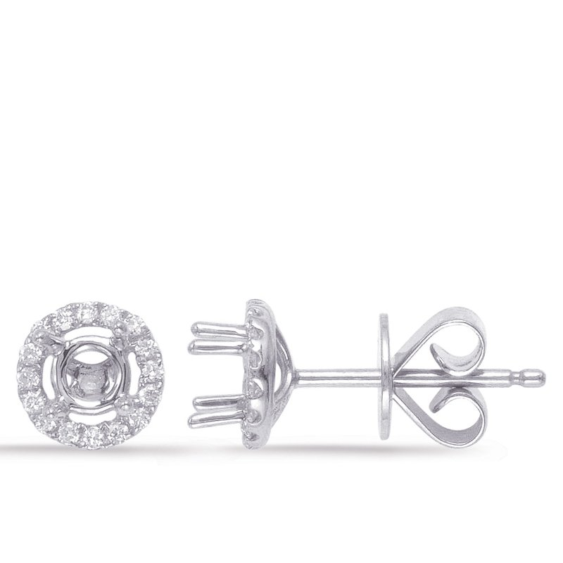 Briana Four Prong Earring Setting For .60ct TW