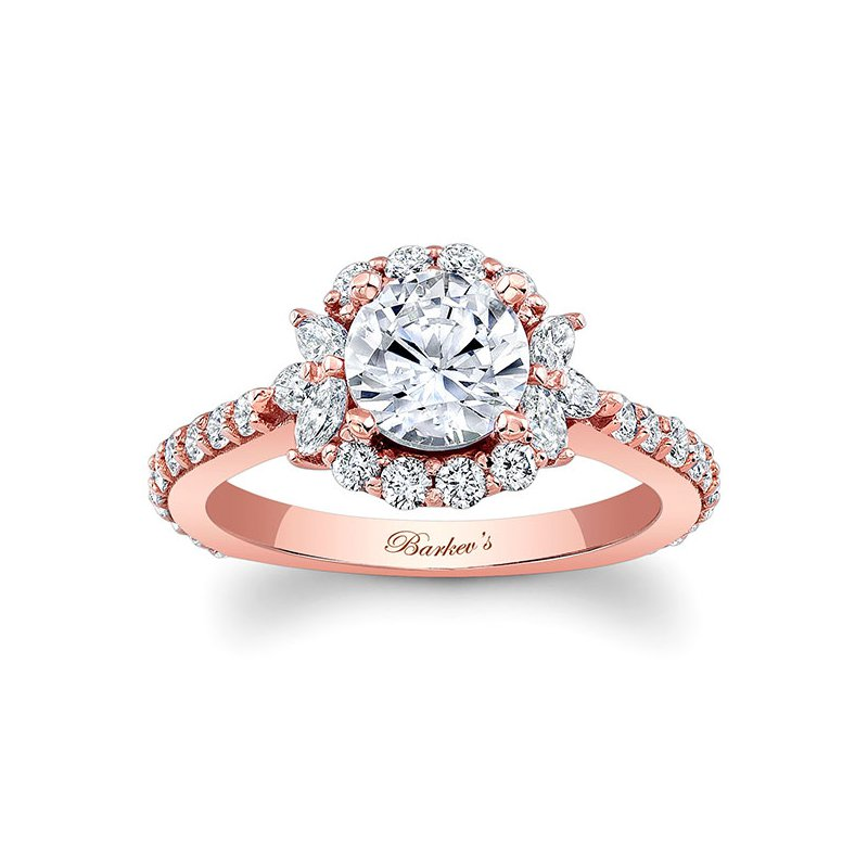 Barkev's Rose Gold Halo Engagement Ring