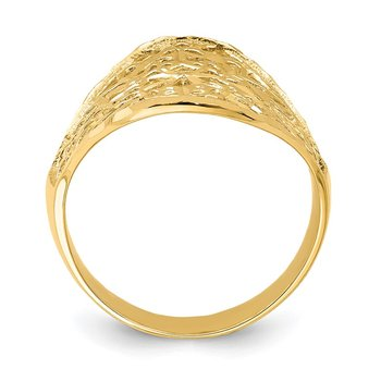14K Polished Filigree Ring