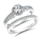 Valina Bridals Mounting with side stones .25 ct. tw., 1/2 ct. round center.