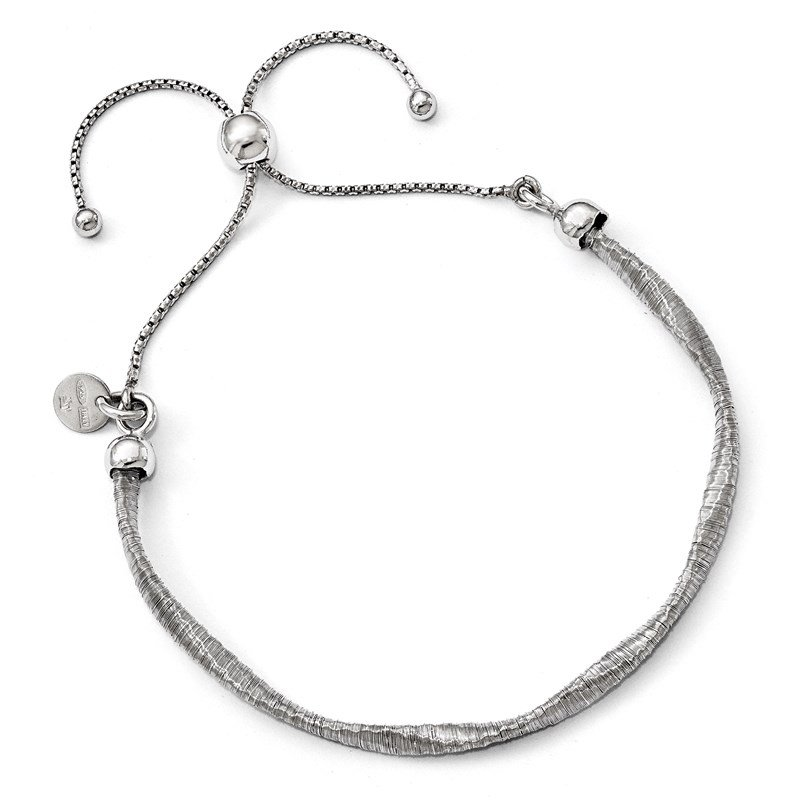 Leslie's Leslie's Sterling Silver Polished Twisted Adjustable Bracelet