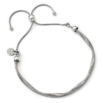 Leslie's Sterling Silver Polished Twisted Adjustable Bracelet