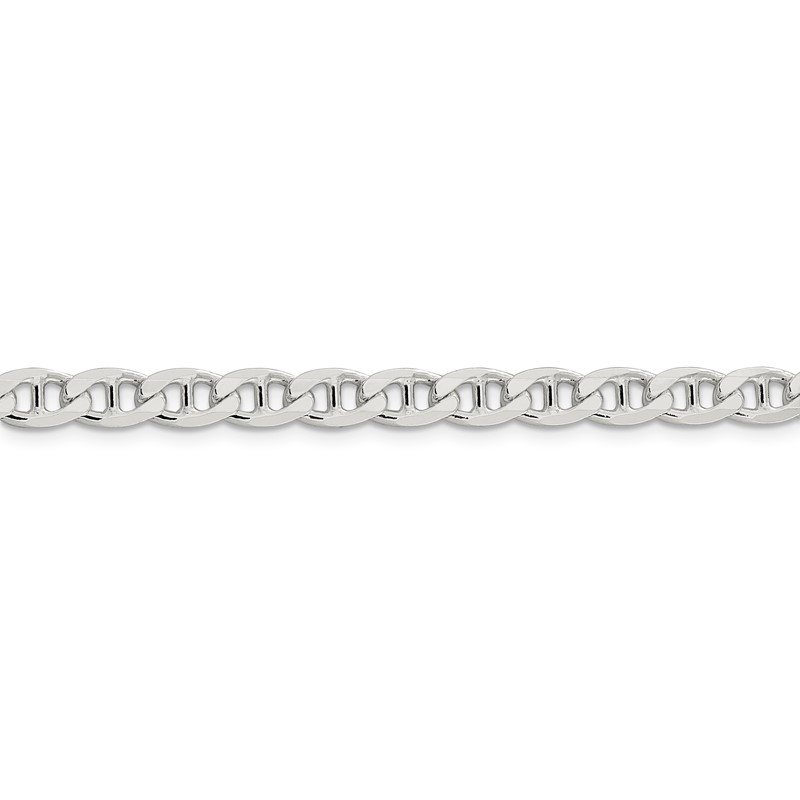 Quality Gold Sterling Silver 5.7mm Flat Cuban Anchor Chain