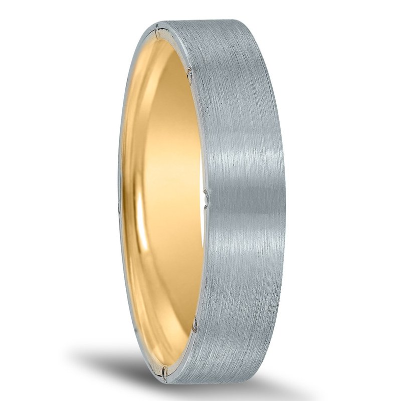 Men's Unique Inside Out Wedding Band - XNT16977