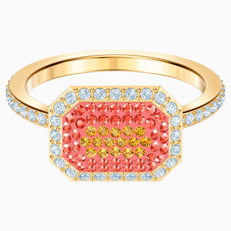 Swarovski No Regrets Ring, Multi-colored, Gold-tone plated