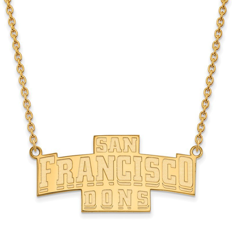 NCAA Gold-Plated Sterling Silver University of San Francisco NCAA Necklace