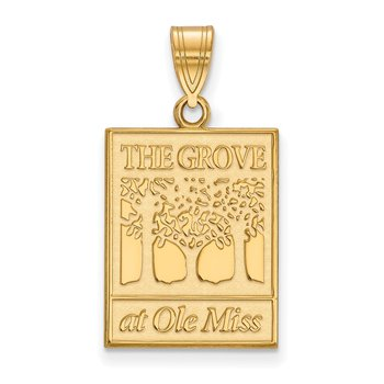 Gold University of Mississippi NCAA Pendant