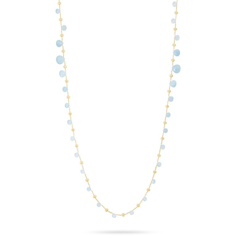 Marco Bicego Paradise Tabeez-Cut Aquamarine Necklace