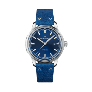 Freedom 60 - Blue On Leather Strap