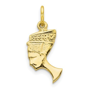 10k Solid Bust of Nefertiti Charm
