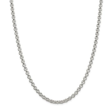 Sterling Silver 5mm Rolo Chain