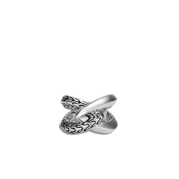 Classic Chain Knife Edge Ring in Silver