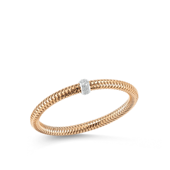 18KT PRIMAVERA 3 DIAMOND STATION FLEXIBLE BRACELET