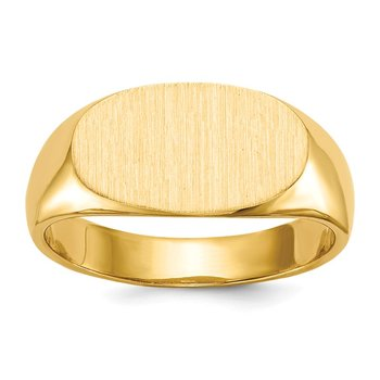 14k 7.0x13.5mm Closed Back Signet Ring
