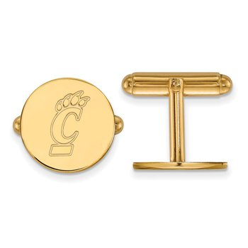 Gold University of Cincinnati NCAA Cuff Links