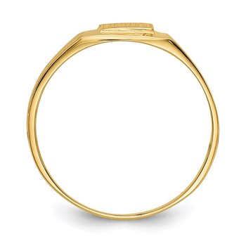 14k 5.25x4.75mm Open Back Signet Ring