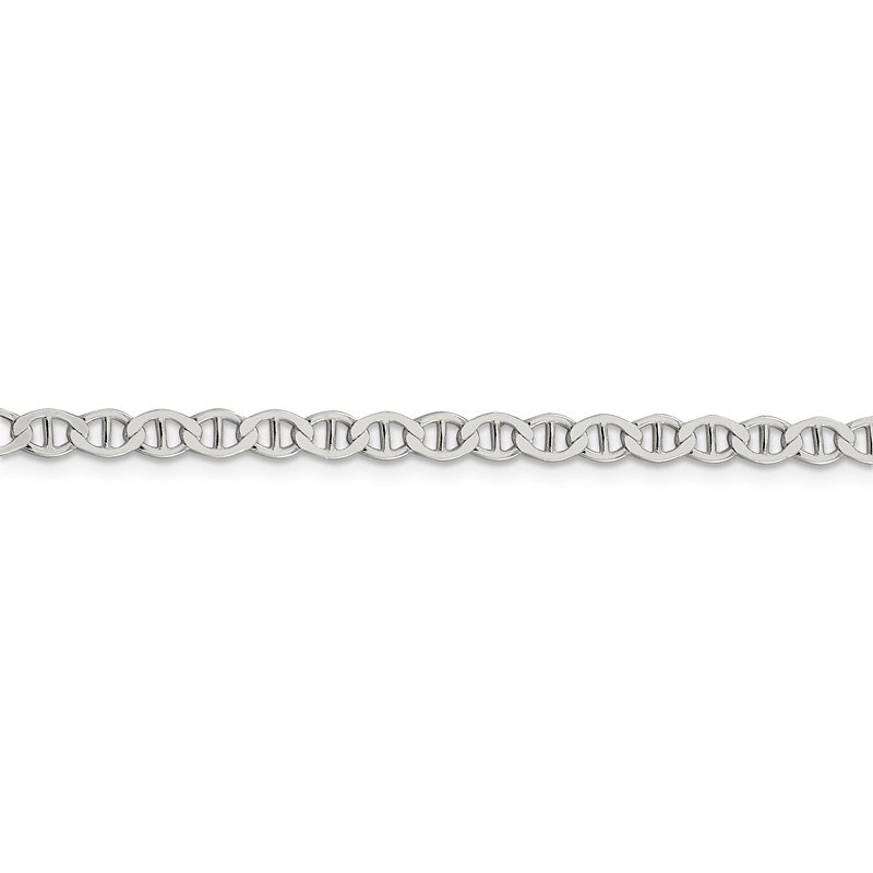Quality Gold Sterling Silver 4mm Flat Anchor Chain