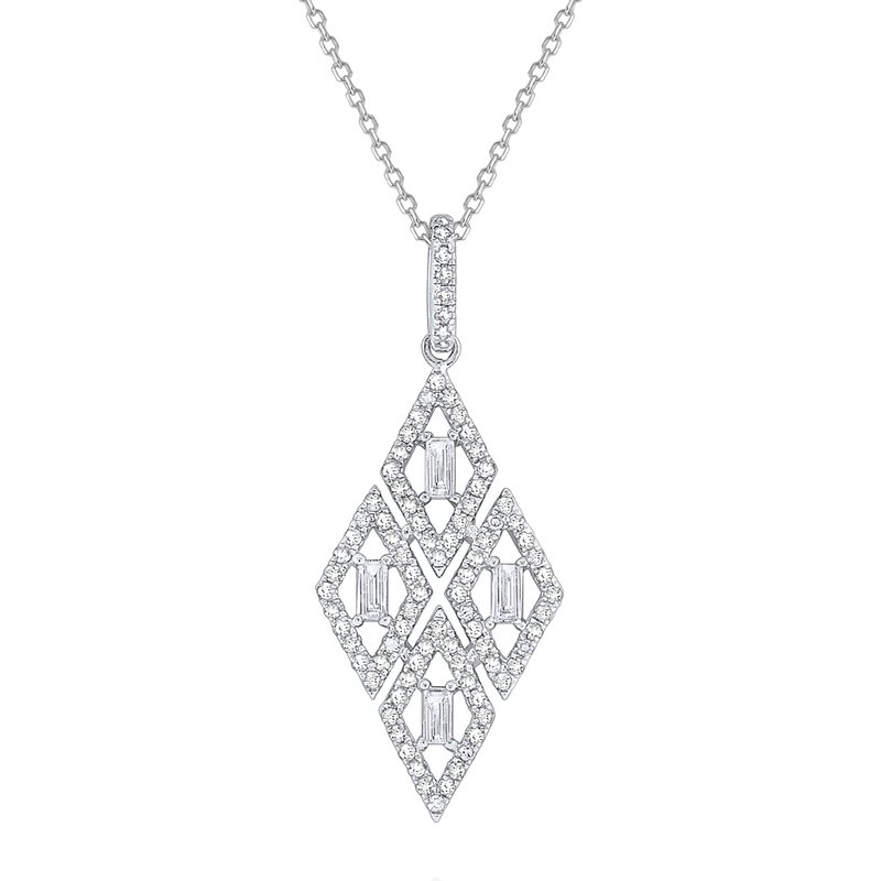 KC Designs Diamond Kite Shaped Mosaic Necklace Set in 14 Kt. Gold