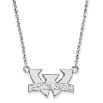 Sterling Silver Wayne State University NCAA Necklace