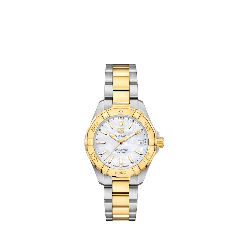 TAG Heuer Aquaracer 300M Steel and Gold Quartz Watch