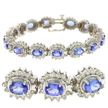 Tanzanite./diamond Bracelet