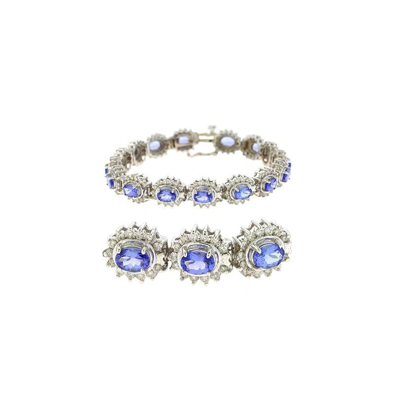 S. Kashi  & Sons Tanzanite./diamond Bracelet